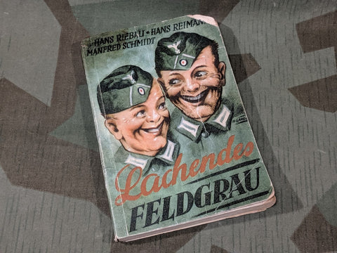Lachende Feldgrau Soldiers Humor Book AS-IS