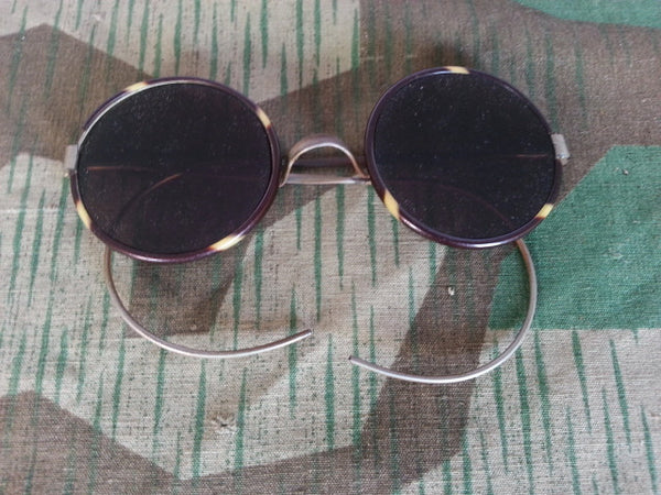 Vintage 1930s / 1940s German Sunglasses Metal & Celluloid Frames