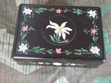 Vintage German Bakelite Box w Painted Edelweiss Flowers
