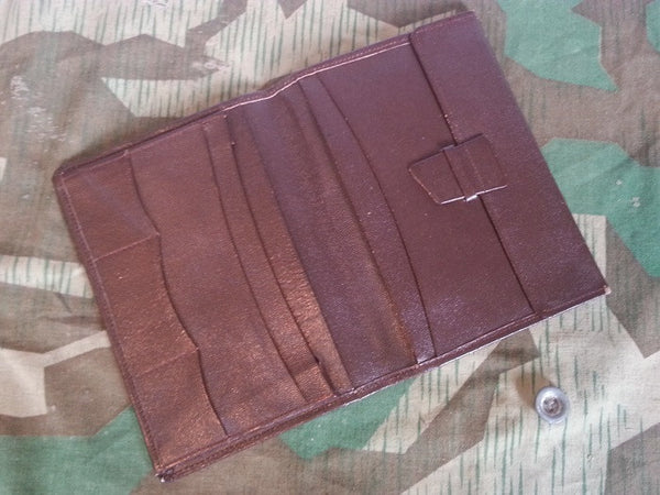 Vintage German Dark Brown Leather Wallet