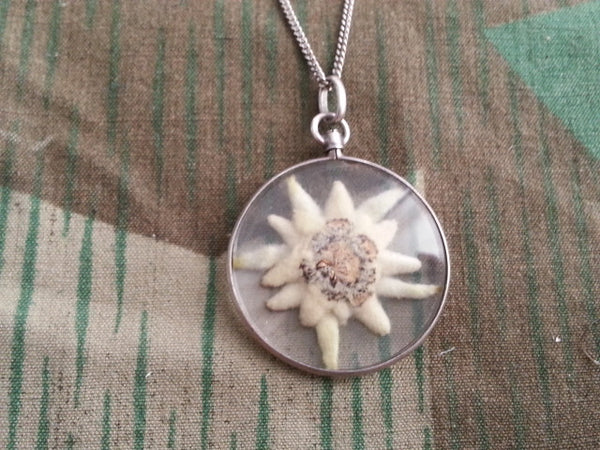 Vintage German Edelweiss Flower Necklace
