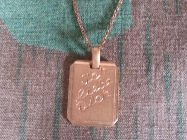 Vintage German Ich Liebe Dich (I Love You) Necklace