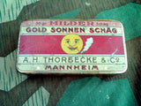 WWI-1920's German Gold Sonnen Schag Tobacco Tin