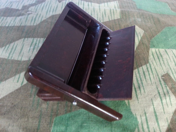 WWII-era German Bakelite Cigarette Case Heavy Duty