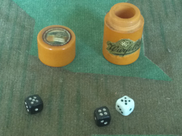 WWII-era German Bakelite Würfelbecher Small Dice Holder