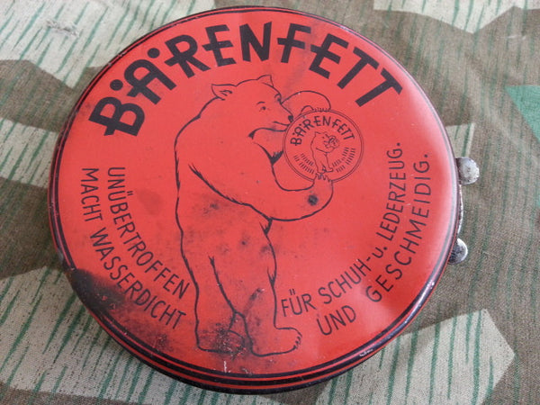 WWII-era German Bärenfett Leather Fat Tin