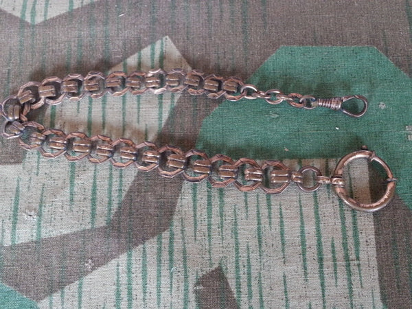 WWII-era German Brass Pocket Watch Chain