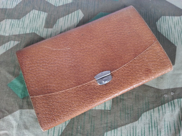 WWII-era German Brown Leather Wallet