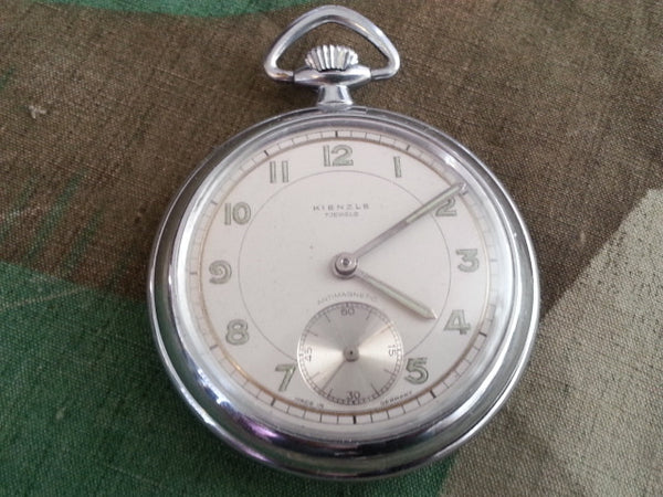 WWII-era German Kienzle Pocket Watch w White Face