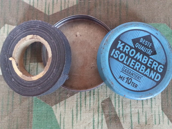 WWII-era German Kromberg Isolierband Electrical Tape Tin 10 Meters w Tape