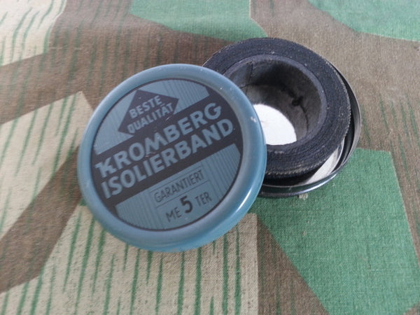 WWII-era German Kromberg Isolierband Electrical Tape Tin 5 Meters w Tape!