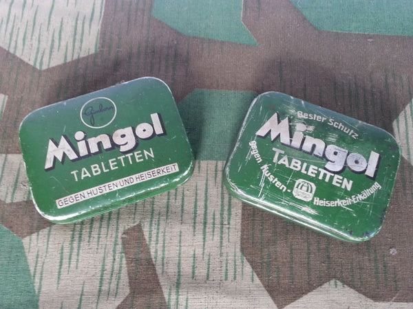 WWII-era German Mingol Cough and Fever Tablet Tin