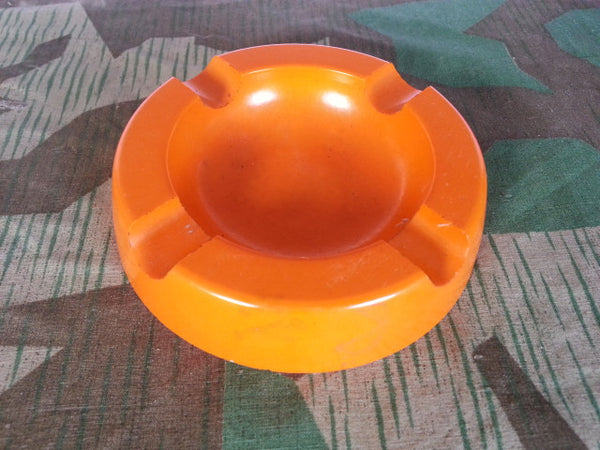 WWII-era German Orange Bakelite Trumpf Ashtray