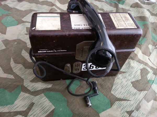 WWII German 1936 FF33 Field Phone Working!