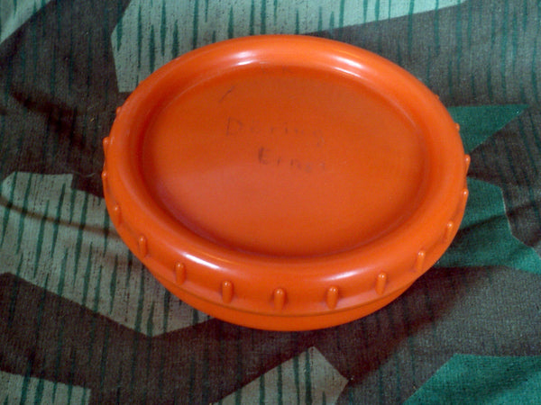 WWII German Döring Ernst Orange Butterdish