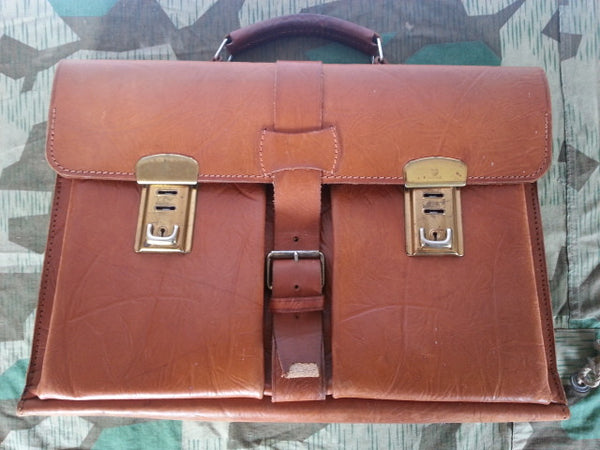 WWII German Leather Briefcase Nice