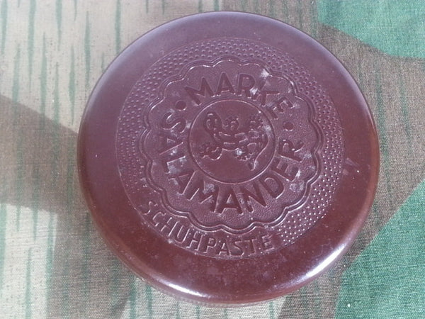 WWII German Salamander Shoe Polish Bakelite Container