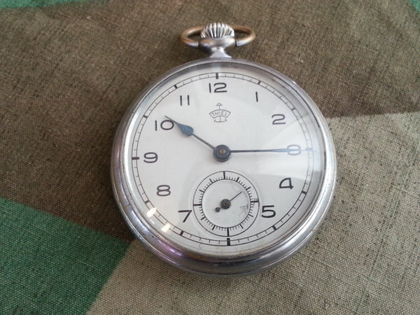 WWII German Thiel Pocket Watch WORKING White Face