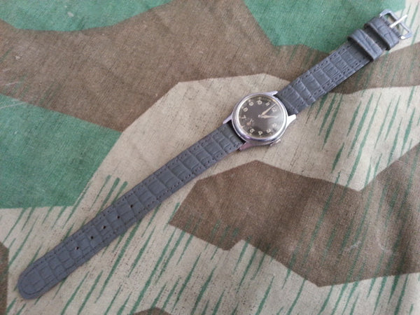 WWII German Wrist Watch Black Face Working