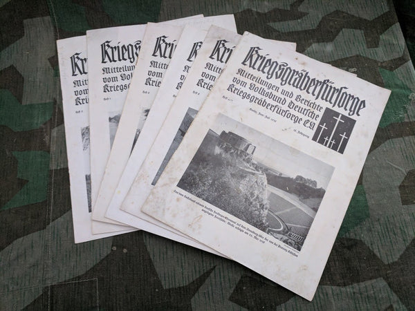 Collection of of 6 Kriegsgräberfürsorge Magazines