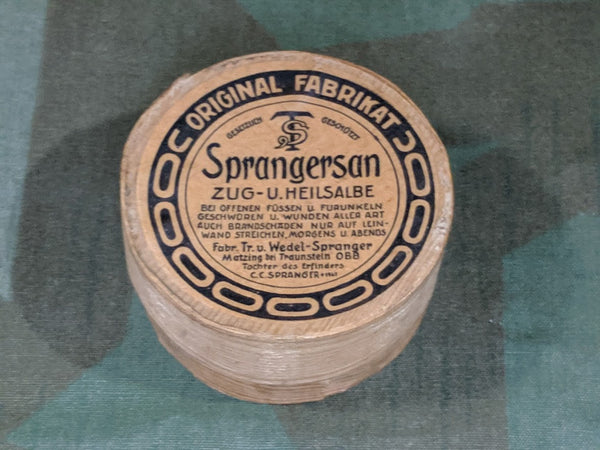 Sprangersan Foot and Wound Salve Wooden Container
