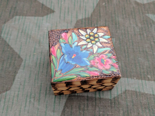 Edelweiss Carved Wood Box
