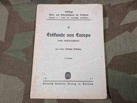 Geography of Europe Book 1941