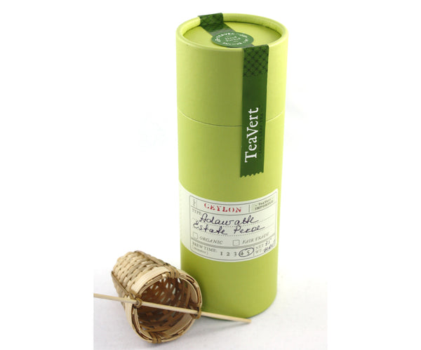 Adawatte Estate Pekoe Loose Leaf Black Ceylon Tea with Bamboo Infuser
