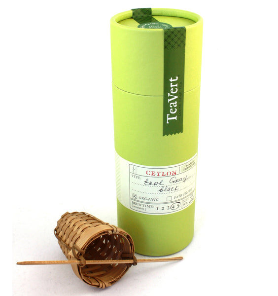 Organic Earl Gray loose leaf tea with Bamboo Infuser