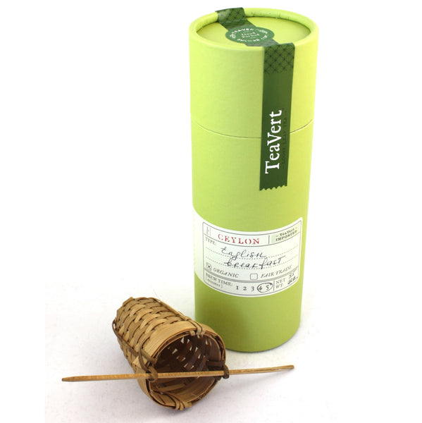 Organic English Breakfast loose leaf tea with Bamboo Infuser