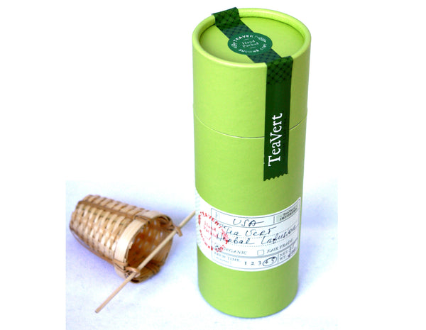 "Organic ""Madrid Fusion"" herbal blend with Bamboo Infuser"
