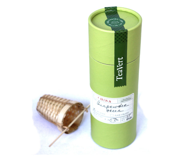 Gunpowder Organic Loose Green Tea, with Bamboo Infuser