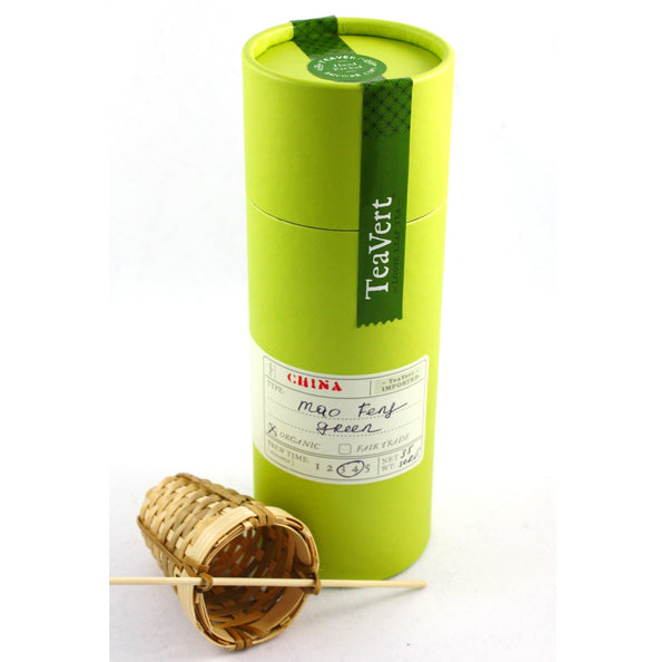 Mao Feng Organic Loose Green Tea with Bamboo Infuser