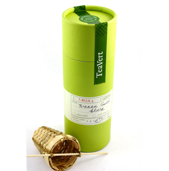 Golden Tian Hong Yunnan Loose Leaf Black Tea, with Bamboo Infuser