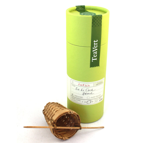 Organic Japanese Kuki Cha loose leaf green tea with Bamboo Infuser