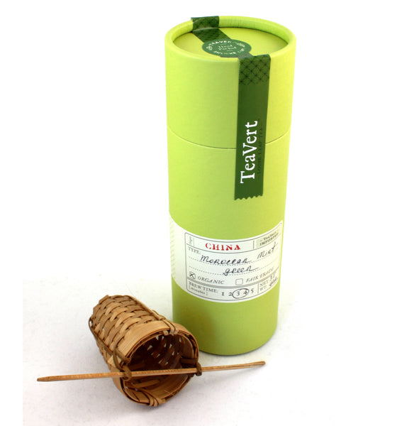 Organic Moroccan Mint loose leaf green tea with Bamboo Infuser