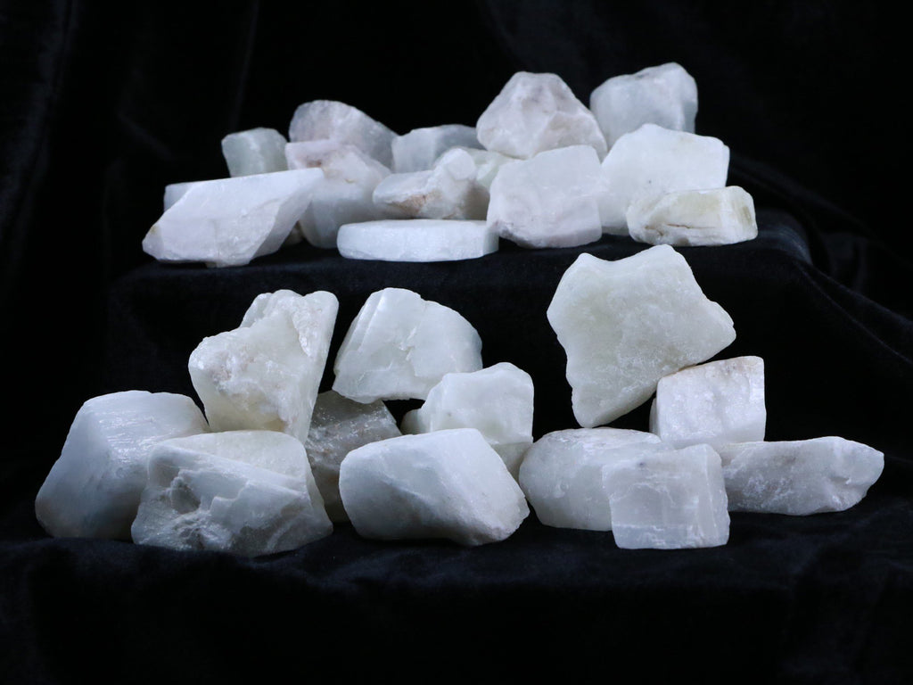 NATURAL WHITE CALCITE CRYSTALS FROM MEXICO INLAY HEALING CHAKRA BY THE POUND - Fossil Age Minerals