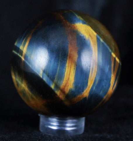 NATURAL TIGER EYE CRYSTAL SPHERE BALL TIGER'S EYE POLISHED HEALING 39MM-Fossil Age Minerals