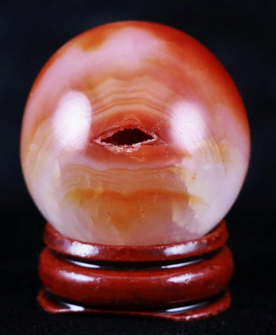 NATURAL POLISHED CARNELIAN CRYSTAL SPHERE BALL 35MM HEALING RIEKI-Fossil Age Minerals