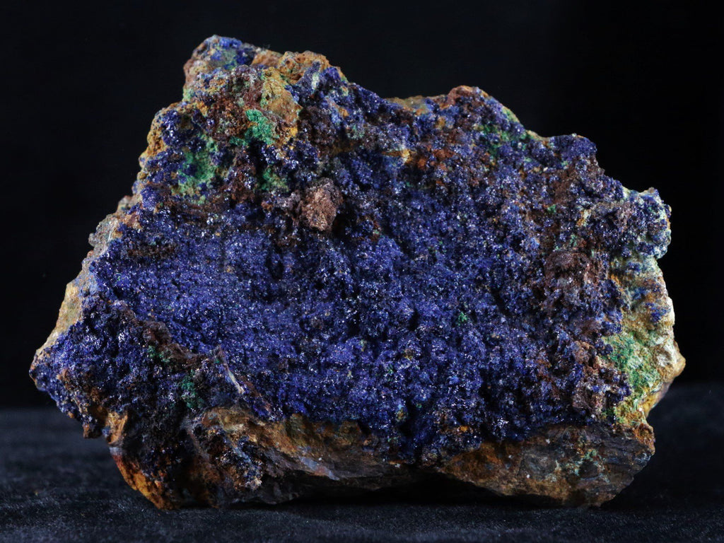Azurite Crystals & Malachite On Matrix Very Colorful Mineral Specimen 3.6 Inches Long - Fossil Age Minerals