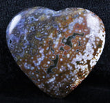 NATURAL POLISHED OCEAN JASPER CRYSTAL HEART FROM MADAGASCAR 43MM 1.1 OZ-Fossil Age Minerals