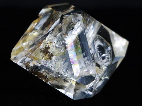 NATURAL HERKIMER DIAMOND QUARTZ CRYSTAL RAINBOW NEW YORK 1.2 INCHES LONG
