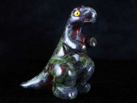 NATURAL HAND CARVED DINOSAUR FROM DRAGON BLOOD JASPER STONE HEALING - Fossil Age Minerals