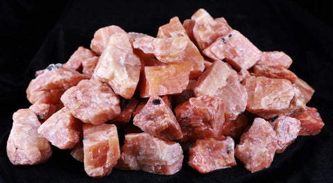 NATURAL ORANGE CALCITE CRYSTALS FROM MEXICO INLAY HEALING CHAKRA BY THE POUND-Fossil Age Minerals