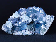 Natural Blue Fluorite Crystals On Quartz Crystals Mineral Specimen 3.7 Inches Long - Fossil Age Minerals
