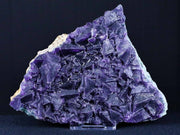 XL Natural Purple Fluorite Crystals Mineral Specimen Free Stand 5.3 Inches Long 1 LB 1.2 OZ - Fossil Age Minerals
