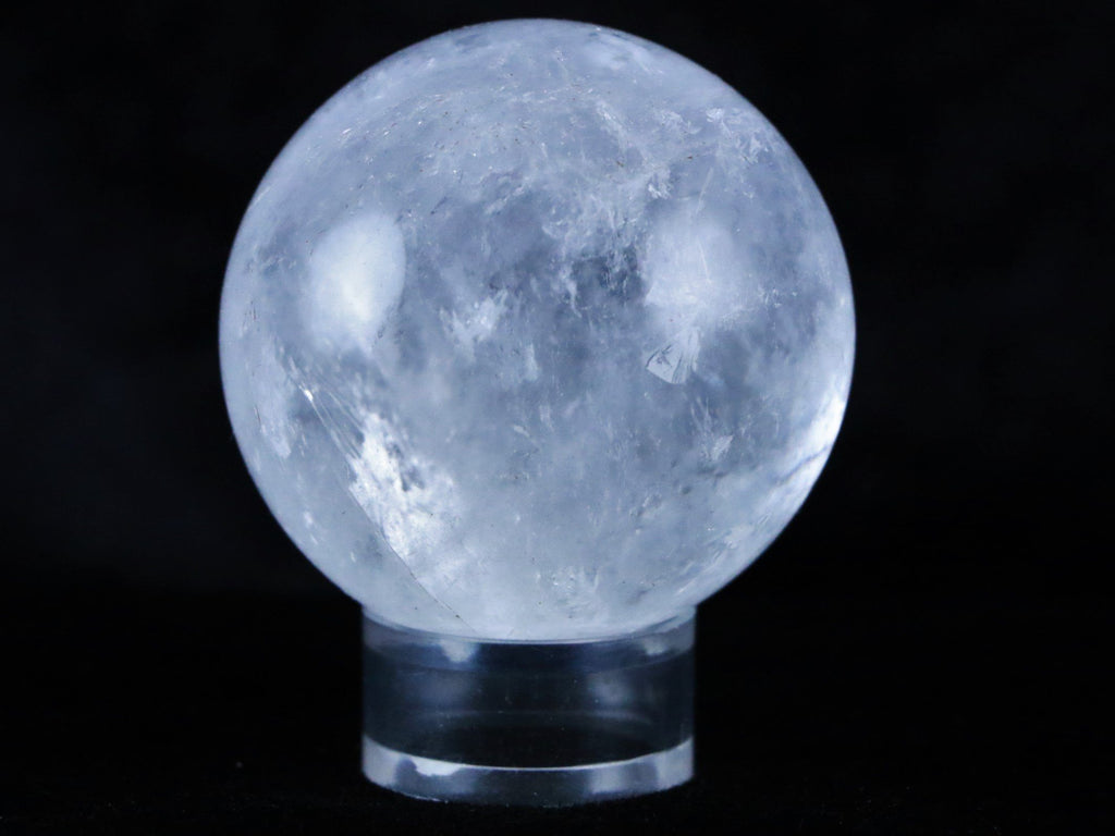 NATURAL CLEAR QUARTZ CRYSTAL SPHERE BALL MINERAL SPECIMEN 48MM-Fossil Age Minerals