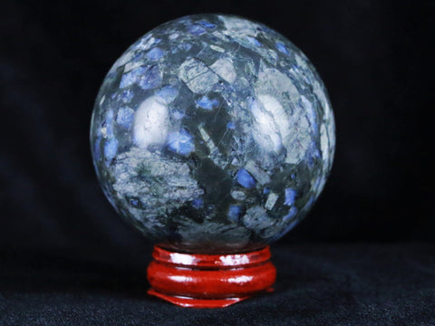 XL 56MM LLANITE BLUE OPAL CRYSTAL SPHERE BALL ORB MINERAL SPECIMEN FREE STAND - Fossil Age Minerals