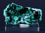 2.3 IN Chrysocolla On Malachite Fibrous Velvet Crystal Specimen Congo 1.1 OZ Free Stand - Fossil Age Minerals