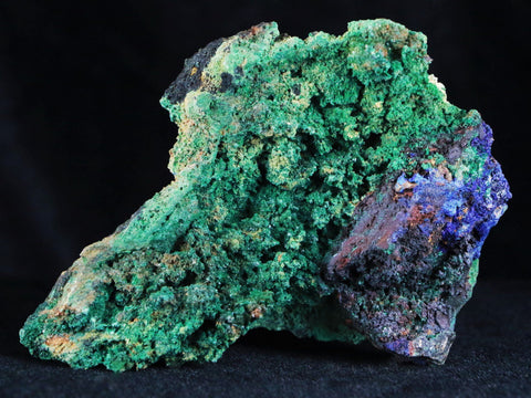 AZURITE CRYSTALS & MALACHITE ON MATRIX VERY COLORFUL MINERAL 6 OUNCES - Fossil Age Minerals